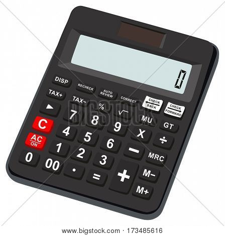 Calculator icon basic and simple for office use digital calculation mathematics technology equipment object