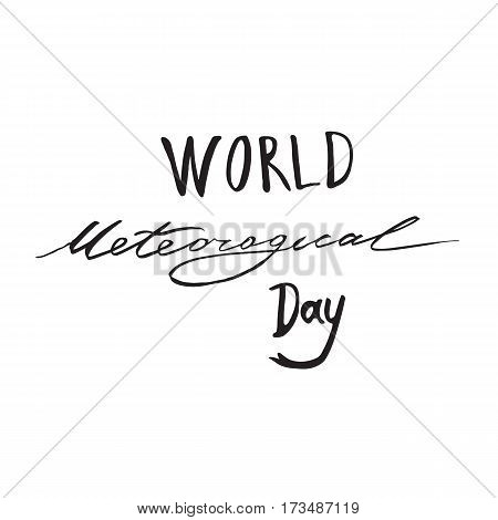 Greeting card of the World Meteorological Day celebration. Vector abstract background