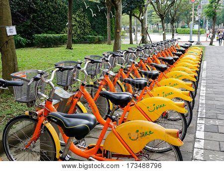 Bicycle Rental Service In Taipei, Taiwan