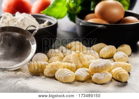 Uncooked Homemade Gnocchi