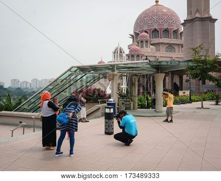View Of Putrajaya Mosque In Malaysia