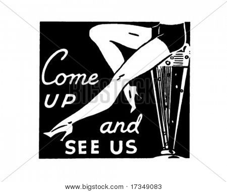 Come Up And See Us - Retro Ad Art Banner