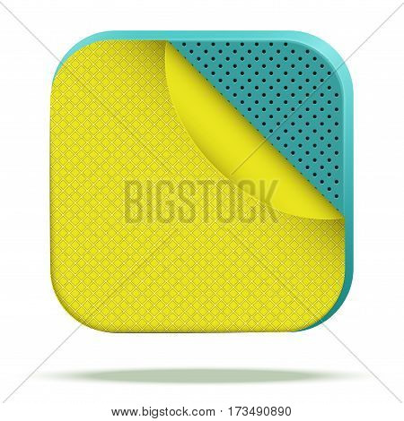 Icon of a sandwich multilayer fabric. Demonstration of the structure of the material. Vector Illustration isolated on white background