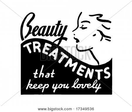 Beauty Treatments - Retro Ad Art Banner