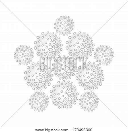 Sphere pentagon set isolated on white background vector illustration