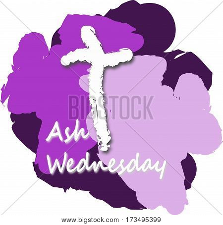 Ash Wednesday Poster Or purple Banner Background, Christian Holliday