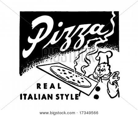 Pizza - Retro Ad Art Banner