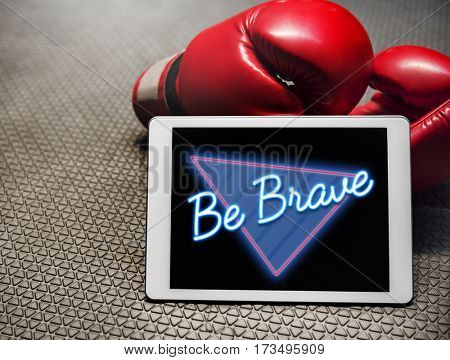 Be Brave Inspiration Positive Word