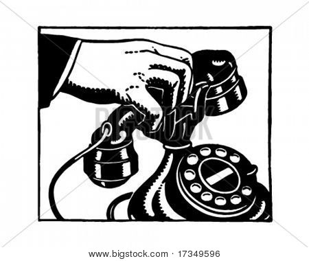 Pick Up The Phone 2 - Retro Ad Art Illustration