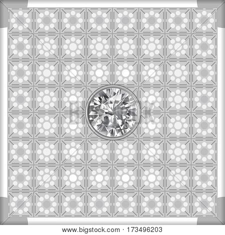 Grey lighting ceiling diamond background vector illustration