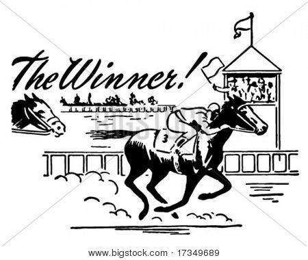 El ganador - anuncio Retro arte Banner