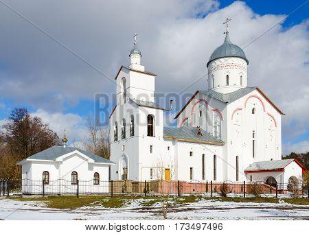 Church of St. Prince Alexander Nevsky spring landscape Gomel Belarus