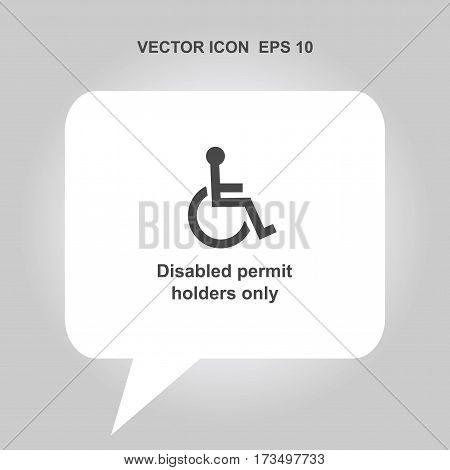 disabled permit holders only Icon, disabled permit holders only Icon Eps10, disabled permit holders only Icon Vector, disabled permit holders only Icon Eps, disabled permit holders only Icon Jpg, disabled permit holders only Icon Picture