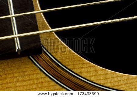 acoustic guitar neck fingerboard frets strings music case close inlay creativity art sound vibration play music guitarist musician
