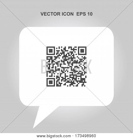 qr code vector icon isolated on white background