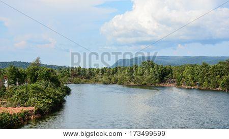 River Scene In Mekong Delta, Southern Vietnam
