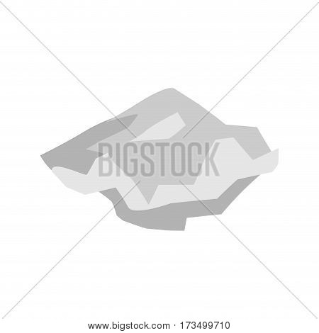 Paper Crushed Garbage Isolated. Sheet  Rubbish On White Background