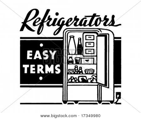 Refrigerators - Retro Ad Art Banner