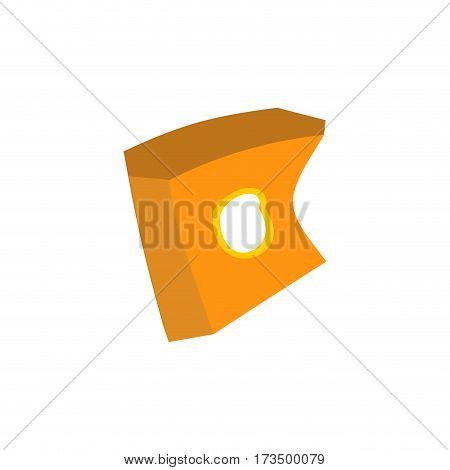 Paper Box Of French Fries Crushed Garbage Isolated. Package Rubbish On White Background