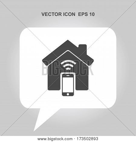 smart home with wifi and smartphone Icon, smart home with wifi and smartphone Icon Eps10, smart home with wifi and smartphone Icon Vector, smart home with wifi and smartphone Icon Eps, smart home with wifi and smartphone Icon Jpg