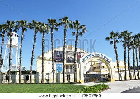 ANAHEIM, CALIFORNIA - FEBRUARY 24, 2017: The City National Grove of Anaheim. An indoor, live music venue in Anaheim, California, two miles from Disneyland in the Angel Stadium parking lot.