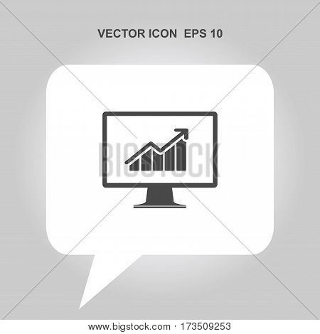 graph on monitor screen Icon, graph on monitor screen Icon Eps10, graph on monitor screen Icon Vector, graph on monitor screen Icon Eps, graph on monitor screen Icon Jpg, graph on monitor screen Icon Picture