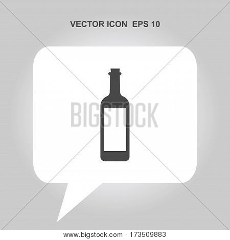 wine bottle vector icon isolated on white background