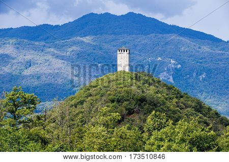 Buccione Tower On Orta Lake, Italy
