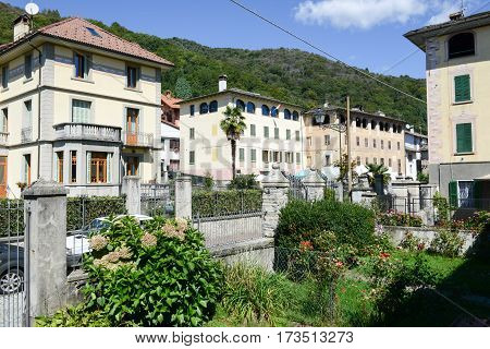 Civiasco, Italy - 5 September 2013: The rural village of Civiasco on Piedmont Italy