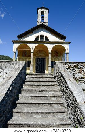 Madonna Assunta Church At The Village Of Arola On Italy