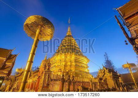 Wat Phra That Doi Suthep at night, Chiang mai, Thailand