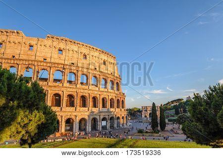 Rome Colosseum (Roma Coliseum) at Rome, Italy