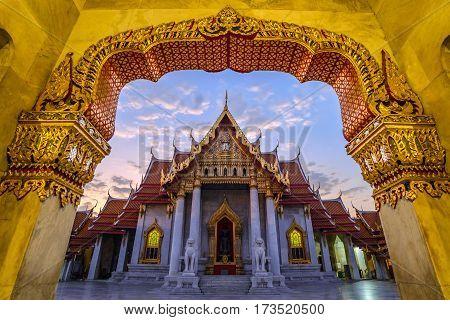 Marble Temple or Wat Benchamabophit, Bangkok, Thailand