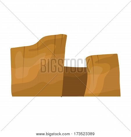 Rectangular high mountains of Sandstone. Desert mountains. Different mountains single icon in cartoon style vector symbol stock web illustration.