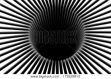black hole abstract white background 3d illustration