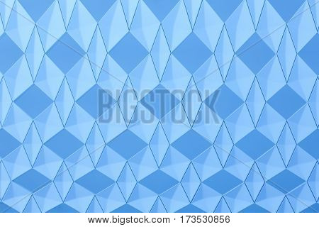 Geometric background with diamond structure in blue tone. Horizontal