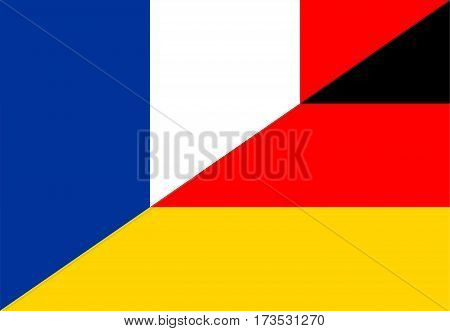 france germany neighbour countries half flag symbol