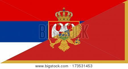 serbia montenegro neighbour countries half flag symbol