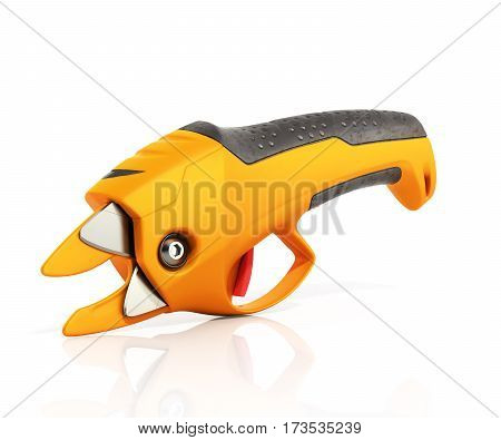Garden Pruner 3D Render In White Background