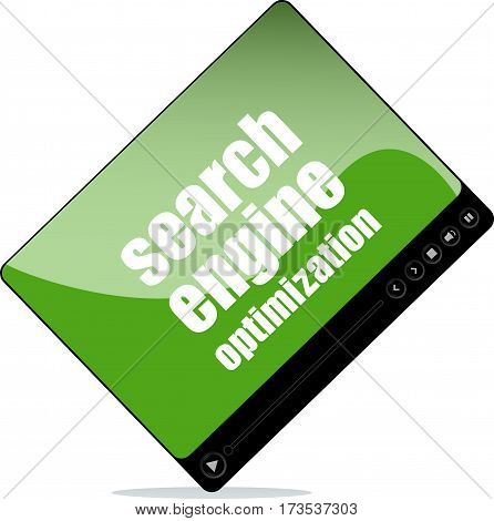 Video Player For Web With Search Engine Optimization Words