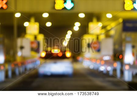 pay for using highway and motorway abstract bokeh of light