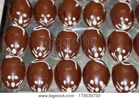 mouse easter eggs chocolate  yummy  confectionary dessert