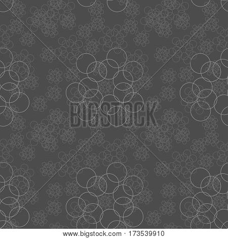 Abstract. seamless pattern with geometric shapes and symbols