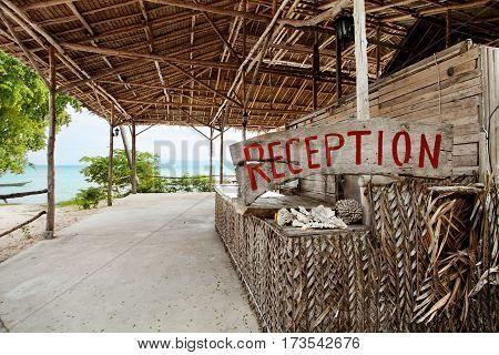 view of nice tropic reggie style  beach  bungalow reception