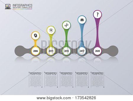 Timeline Infographics. Modern design template. Vector illustration.