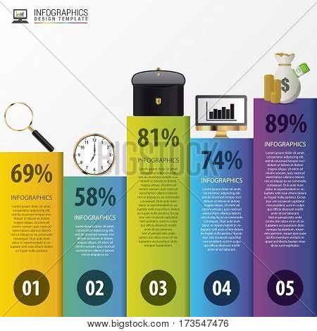 Modern infographics options. Business concept. Vector illustration