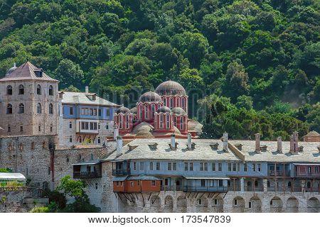 Xenophontos Greek monastery on Mount Athos, Chalkidiki, Greece