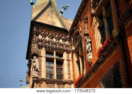 Gothic building of Town Hall. The Gothic town hall built from the 13th century is one of the main landmarks of the city Wroclaw Poland