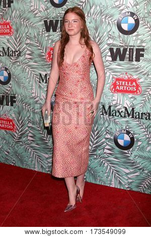 LOS ANGELES - FEB 24:  Annalise Basso at the 10th Annual Women in Film Pre-Oscar Cocktail Party at Nightingale Plaza on February 24, 2017 in Los Angeles, CA
