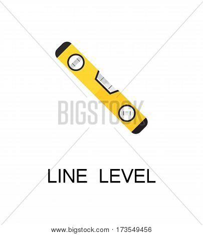 Line level flat icon. Single high quality color element for web design or mobile app. Isolated symbol on white background. Construction tool flat icon. Bulding tool vector illustration.